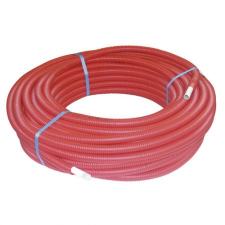 Tube MC gainé simple rouge