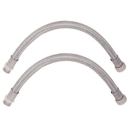 Lot 2 flexibles sanitaire Mâle / Écrou tournant
